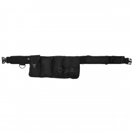 Waist Belt 6 Pockets Black