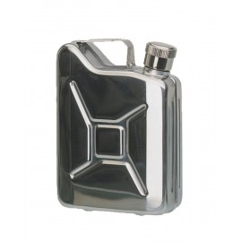 "Stainless Steel ""Jerry Can"" Flask"