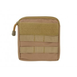 Zippered Pouch MOLLE Coyote