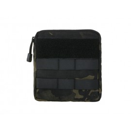 Zippered Pouch MOLLE Multicam Black