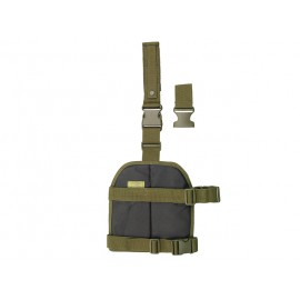 Painel MOLLE Drop Leg Woodland
