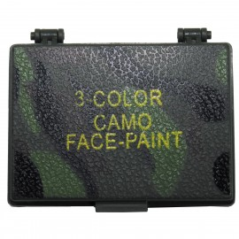 Camo Face Paint 3 colours with Mirror