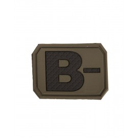 Patch PVC B Negative Olive
