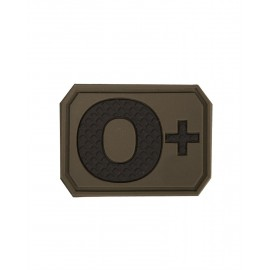 Patch PVC O Positive Olive