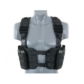 Black Split Front Chest Harness