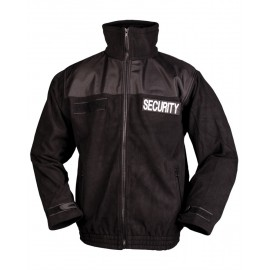 Black Security Fleece Jacket