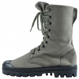 French OD Canvas Comando Boots
