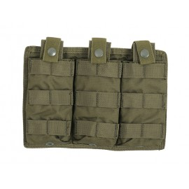 Easy Access Double M4 Mag Pouch Olive