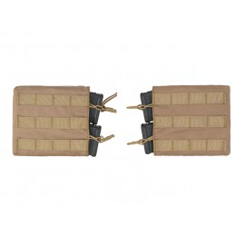 Kit 2 Double Horizontal M4 Mag Pouch Coyote