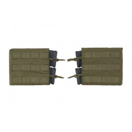 Kit 2 Double Horizontal M4 Mag Pouch Olive