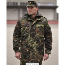 German Flecktarn Parka w/ Liner Used