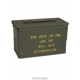 US Medium Metal Cal.50 Ammo Box Used