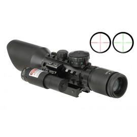 Mira Telescópica 3-9x40E c/ Laser