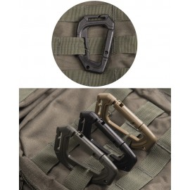 Black Tactical Karabiner MOLLE x2