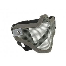 Grey Steel Half Face Mask
