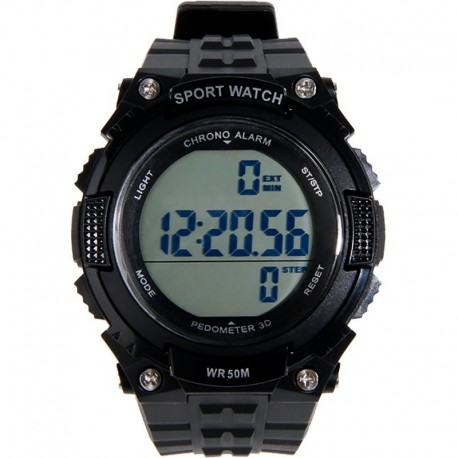 Tactical Watch w/ Pedometer Black