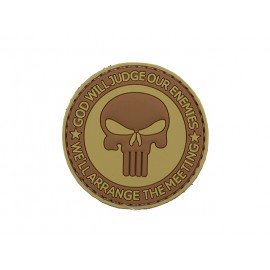 Patch PVC God Will Judge Our Enemies TAN