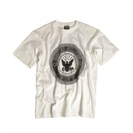 "T-Shirt US ""NAVY"" White"