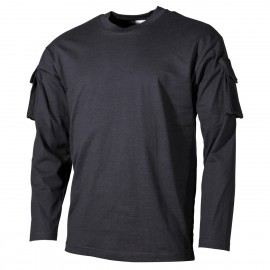 Longsleeve Shirt w/ Pockets Black