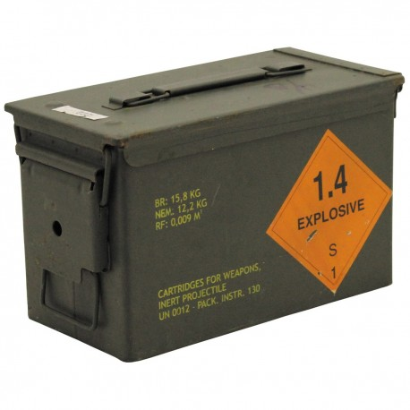 US Size 2 Metal Ammo Box Used