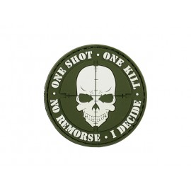 Patch PVC One Shot One Kill Olive