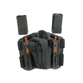 Black Holster with Leg Platform for Glock
