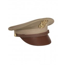 US Khaki Officer Hat with Insignias