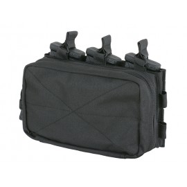 MOLLE Triple Rifle Mag/GP Pouch Black