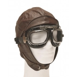 Brown Aviation Helmet