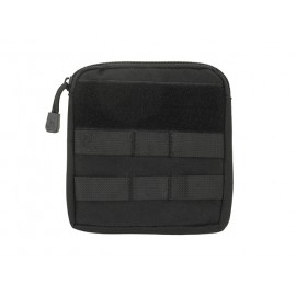 Zippered Pouch MOLLE Black
