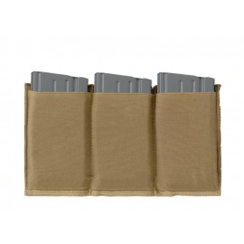 Elastic Triple 7,62 Magazine Pouch Coyote