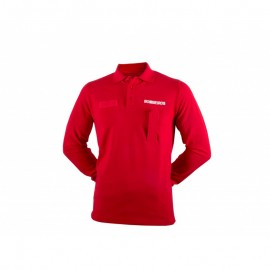 Red Long Sleeve Fireman Polo