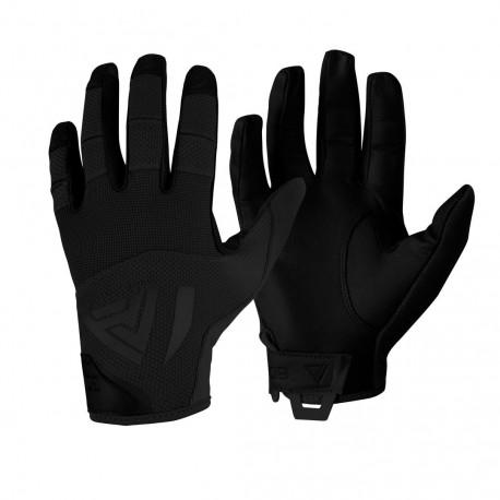 Black Leather Hard Gloves [Direct Action]