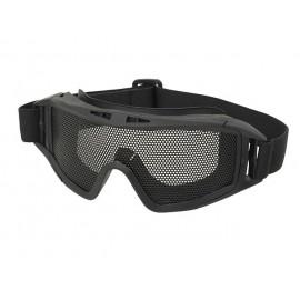 Oculos Tácticos com Rede de Aço Preto