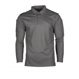 Urban Grey Tactical Long Sleeve Quickdry Polo [Miltec]