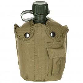 US 1L Plastic Bottle w/ Coyote Cover [MFH]