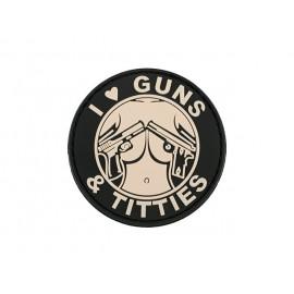 Patch PVC Guns & Titties TAN