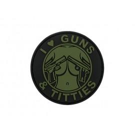 Patch PVC Guns & Titties OD